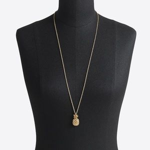 J.Crew pineapple pendant necklace